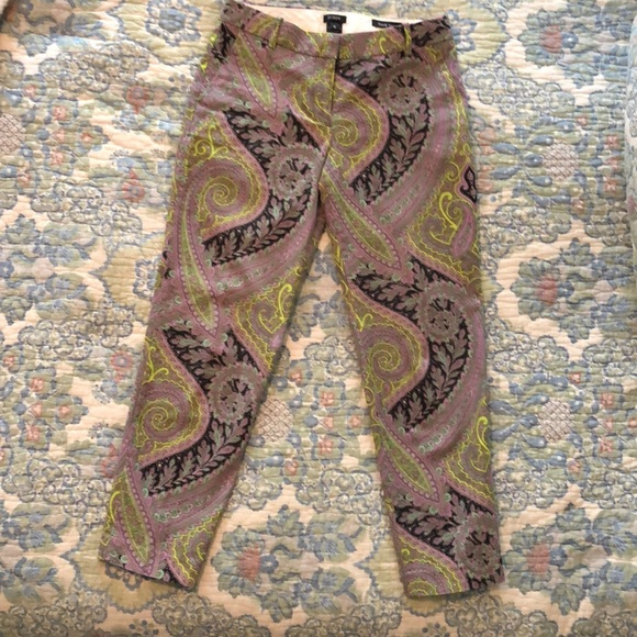 J. Crew Pants - JCrew Cafe Capri Pants Flat Front Size 0